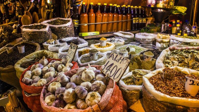Καρυκεύματα στο Σάο Joaguim, Salvador de Bahia, Βραζιλία αγοράς στοκ φωτογραφίες