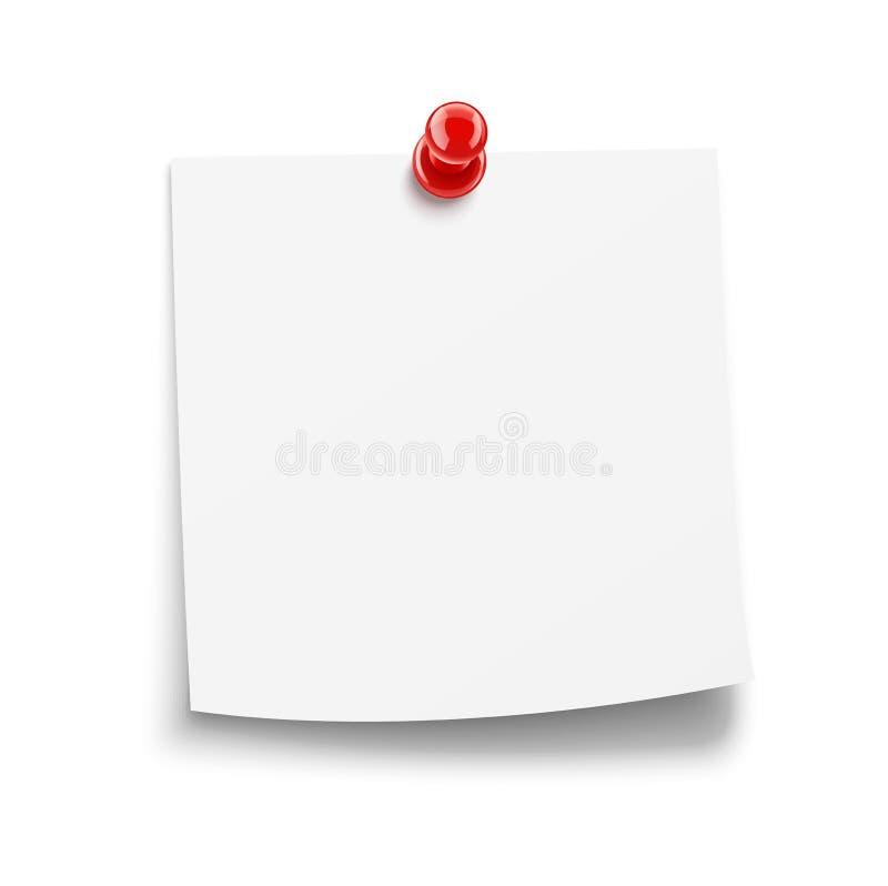 καρφίτσα εγγράφου ειδοποίησης ελεύθερη απεικόνιση δικαιώματος