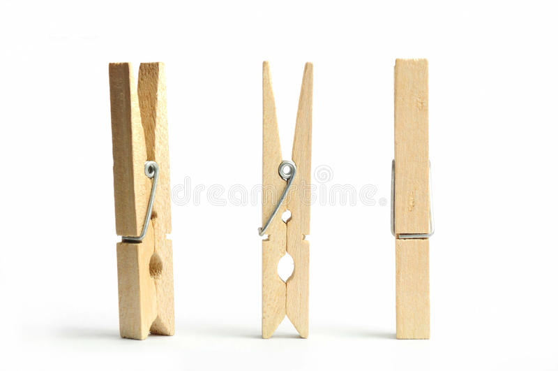 καρφίτσα ενδυμάτων ξύλινη στοκ φωτογραφίες