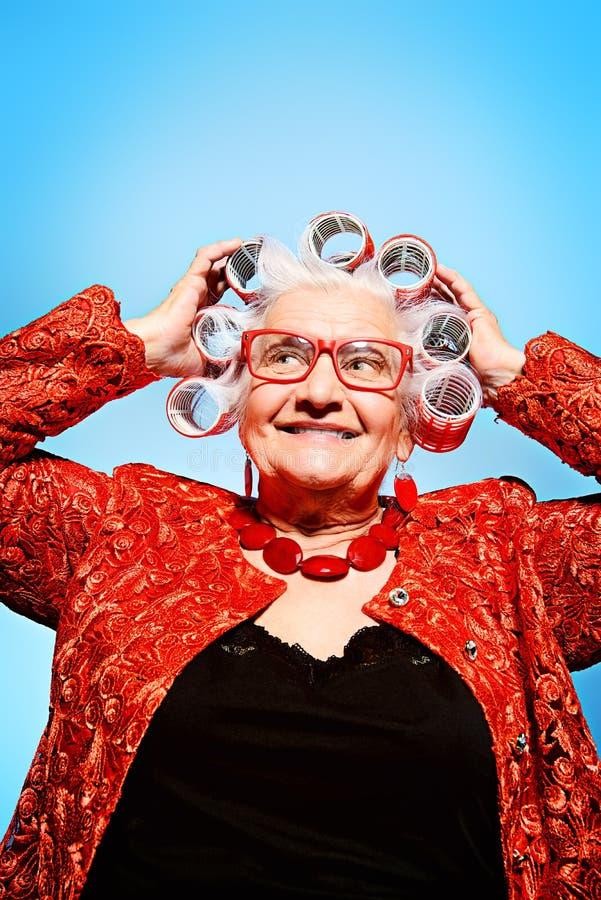 Καρφίτσα-επάνω στη γιαγιά στοκ φωτογραφίες