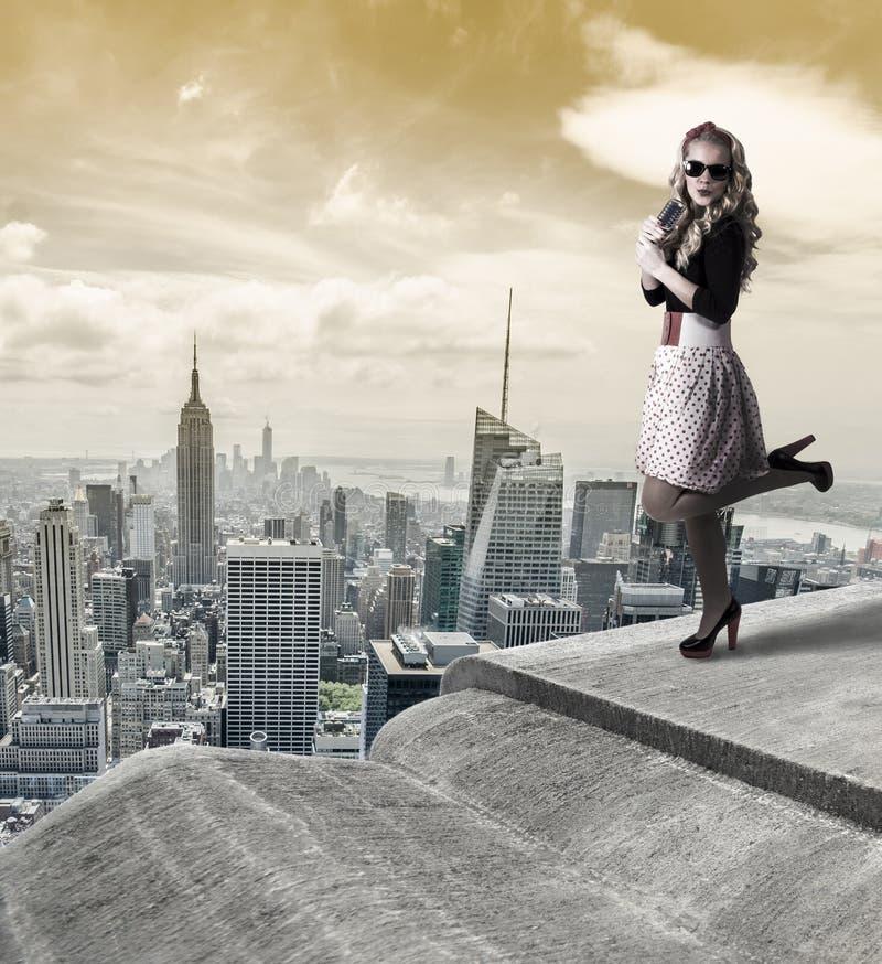 Καρφίτσα-επάνω στη γυναίκα στοκ εικόνες με δικαίωμα ελεύθερης χρήσης