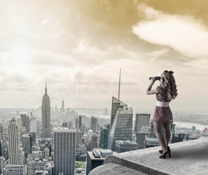 Καρφίτσα-επάνω στη γυναίκα στοκ εικόνα