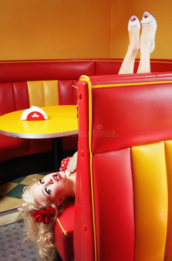 Καρφίτσα επάνω στο κορίτσι στοκ εικόνες με δικαίωμα ελεύθερης χρήσης