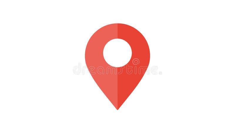 Καρφίτσα χαρτών Εικονίδιο χαρτών θέσης διανυσματική απεικόνιση