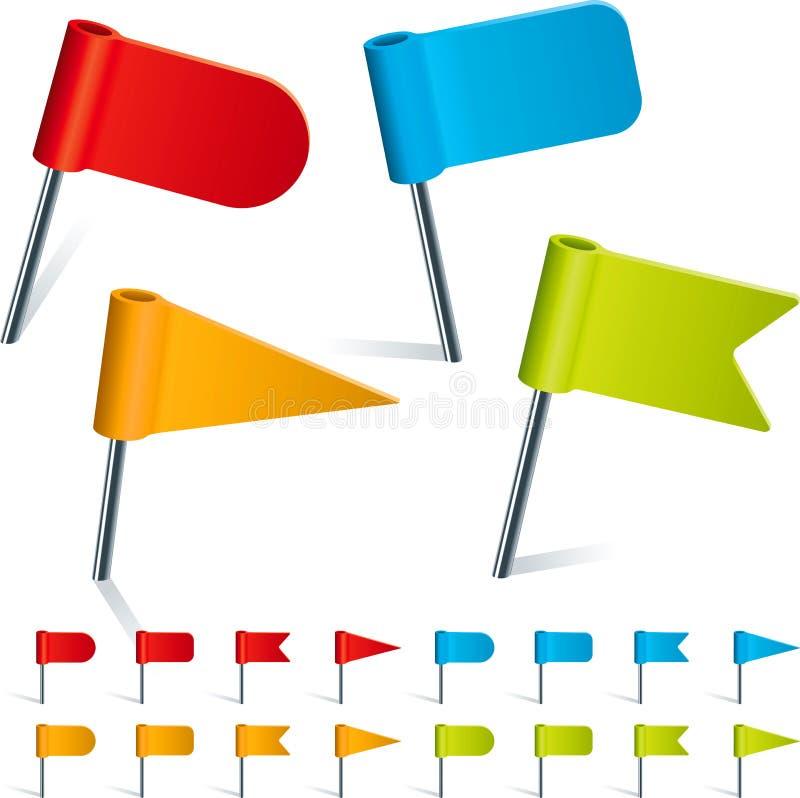Καρφίτσες σημαιών απεικόνιση αποθεμάτων