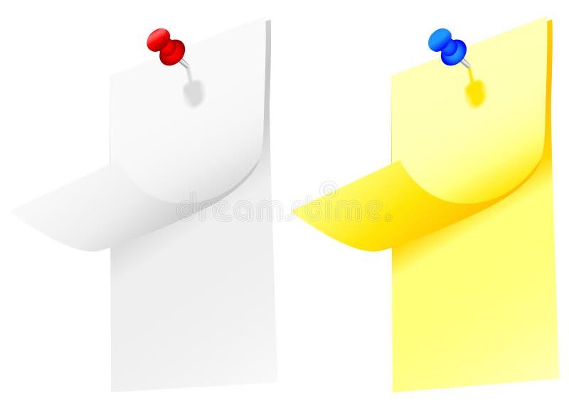 καρφί σημειωματάριων σημε& διανυσματική απεικόνιση