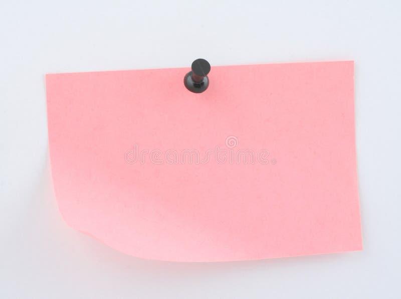 καρφωμένο ροζ φύλλο εγγ&rho στοκ εικόνες