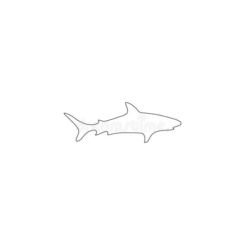 Καρχαρίας επίπεδο διανυσματικό εικονίδιο απεικόνιση αποθεμάτων