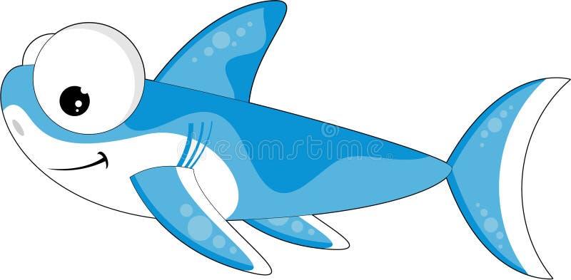 Καρχαρίας κινούμενων σχεδίων διανυσματική απεικόνιση