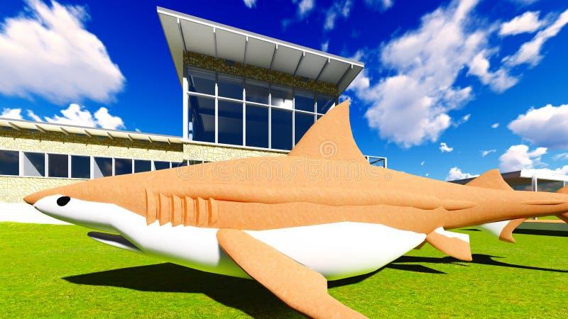 Καρχαρίας που βρίσκεται στο έδαφος στοκ φωτογραφίες με δικαίωμα ελεύθερης χρήσης