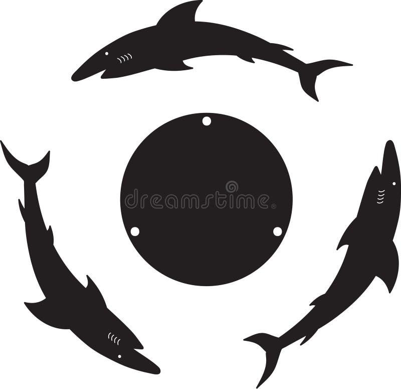 Καρχαρίας τρία στοκ εικόνες