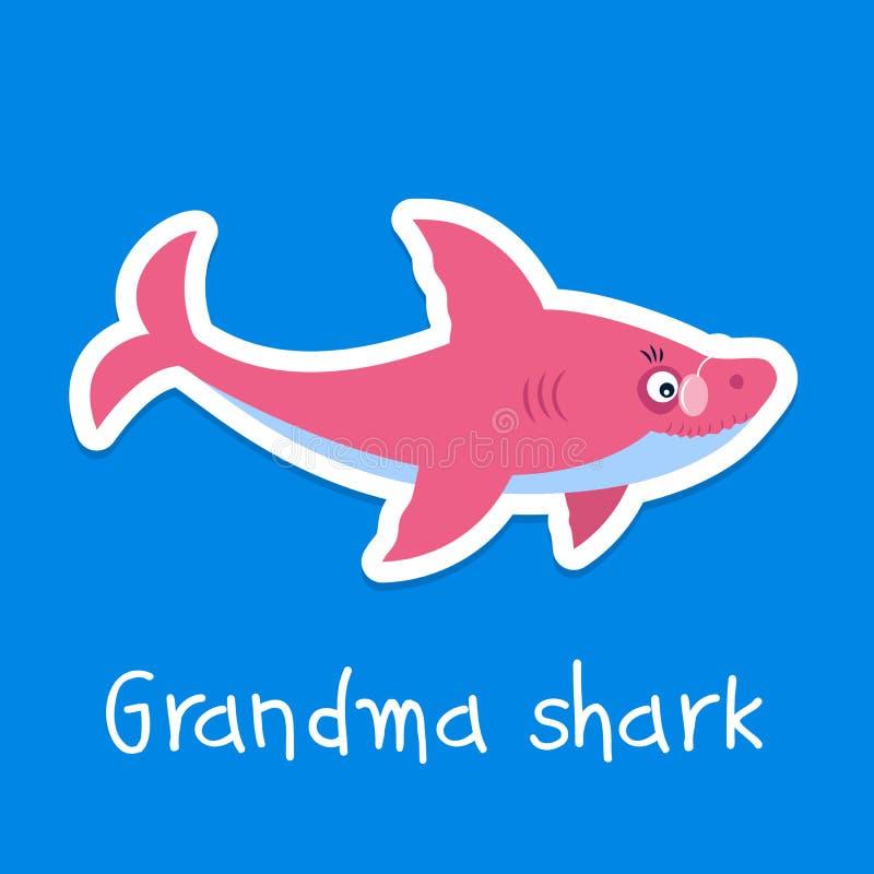 Καρχαρίας Grandma απεικόνιση αποθεμάτων