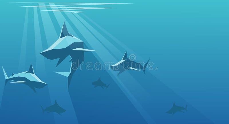 καρχαρίες διανυσματική απεικόνιση