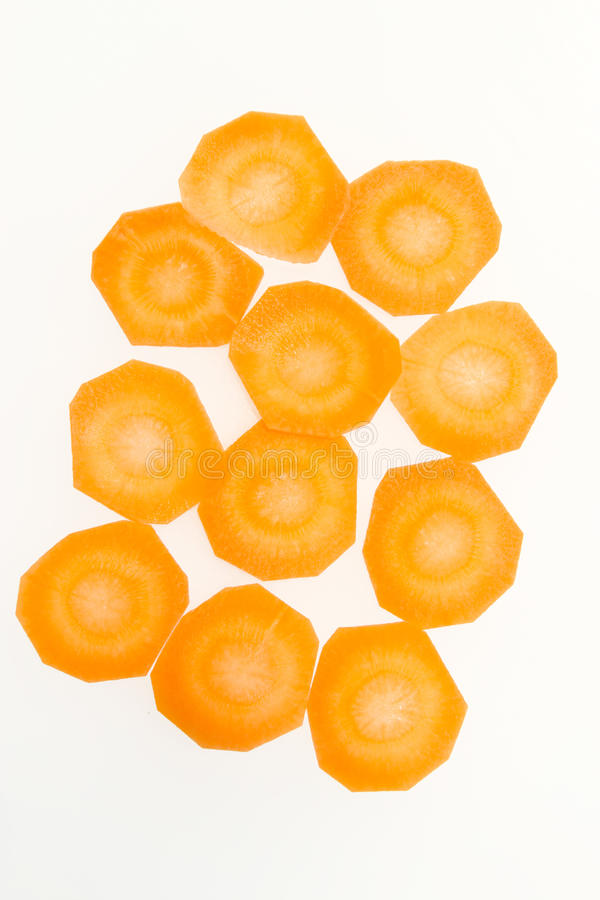 Καρότα που κόβονται στους κύκλους στοκ φωτογραφία με δικαίωμα ελεύθερης χρήσης
