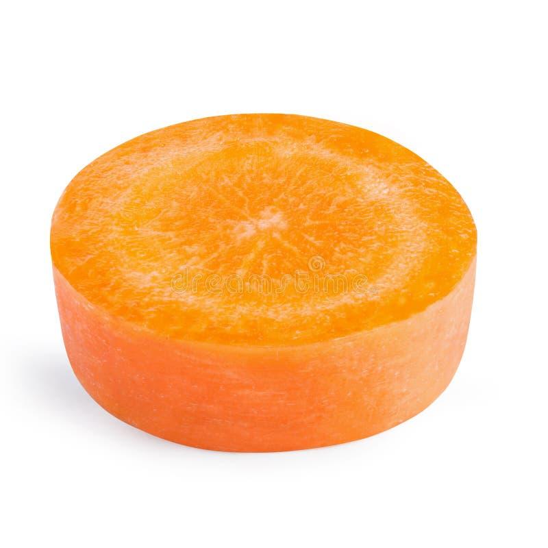 Καρότο ένα φέτα που απομονώνεται στο άσπρο υπόβαθρο στοκ εικόνες