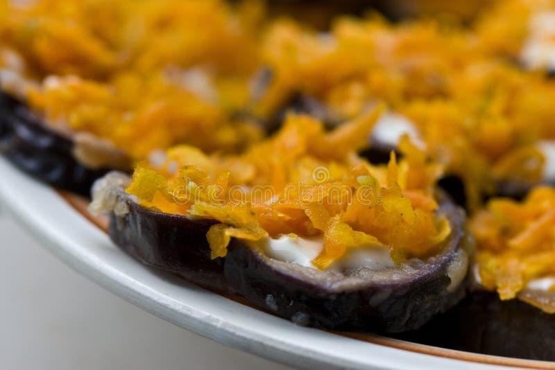 καρότο μελιτζανών στοκ φωτογραφία