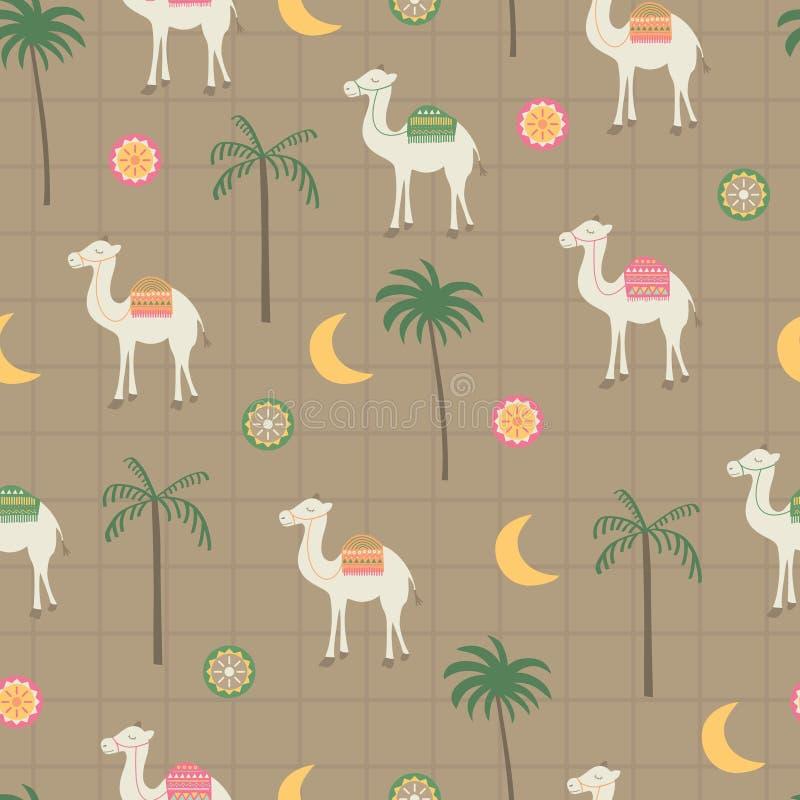 Καρύδα, διακόσμηση, καμήλα, φεγγάρι στον τρύγο στοκ εικόνα