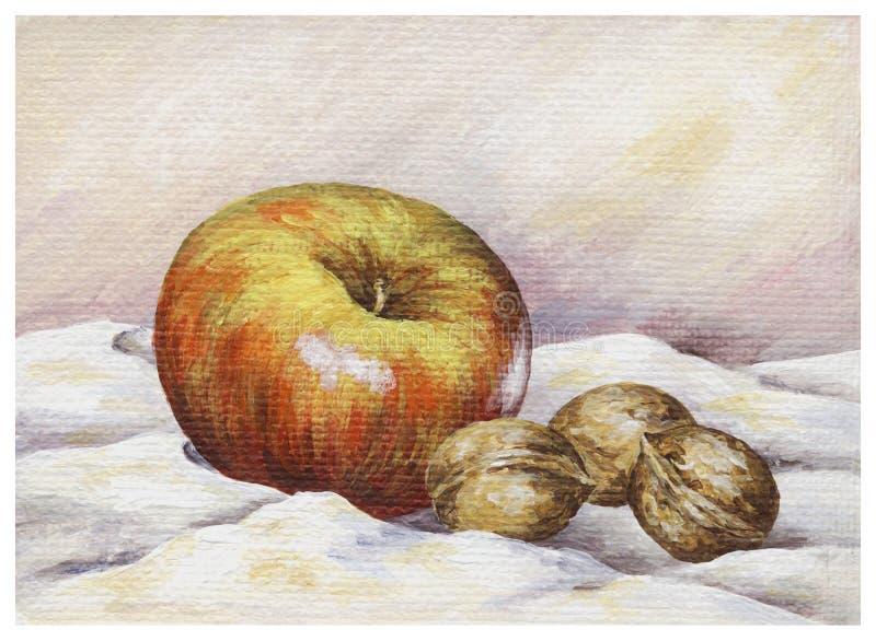 καρύδια μήλων ελεύθερη απεικόνιση δικαιώματος