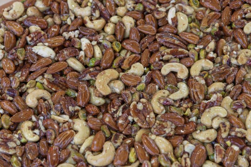 Καρύδια στο σιρόπι στο μέλι ασιατικά γλυκά Παραδοσιακό Μεσο-Ανατολικό επιδόρπιο Υπόβαθρο κινηματογραφήσεων σε πρώτο πλάνο στοκ εικόνες με δικαίωμα ελεύθερης χρήσης
