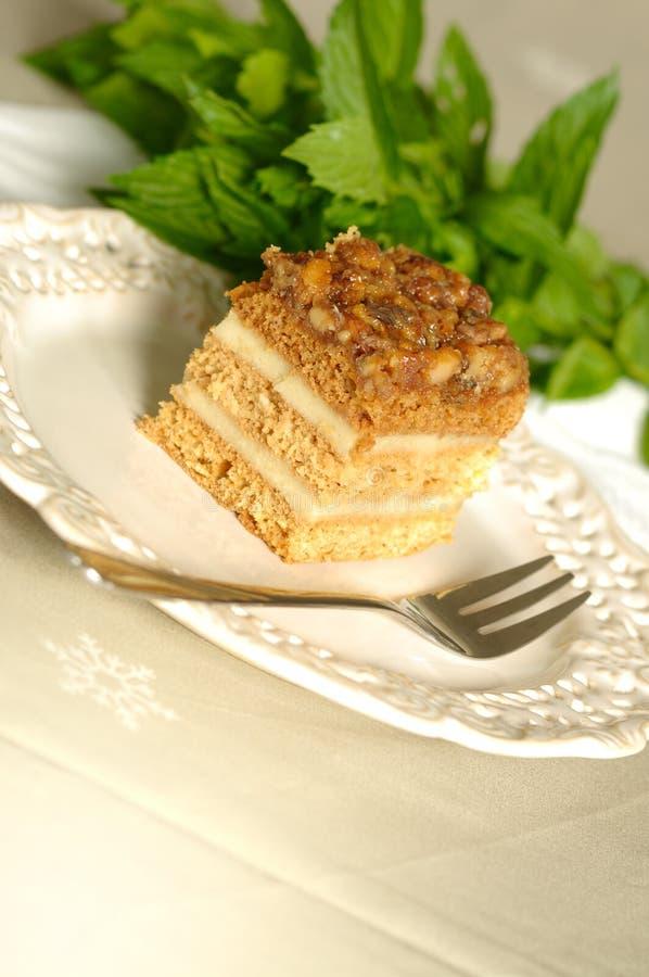 καρύδι κέικ στοκ φωτογραφία