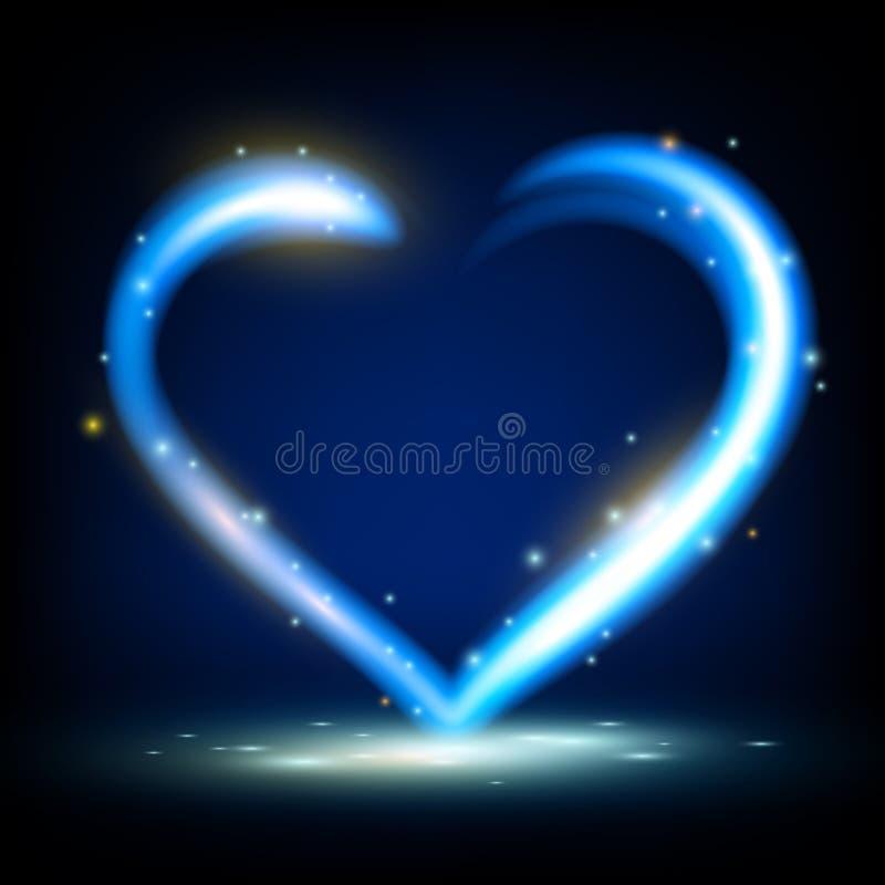Καρδιά λέιζερ ελεύθερη απεικόνιση δικαιώματος