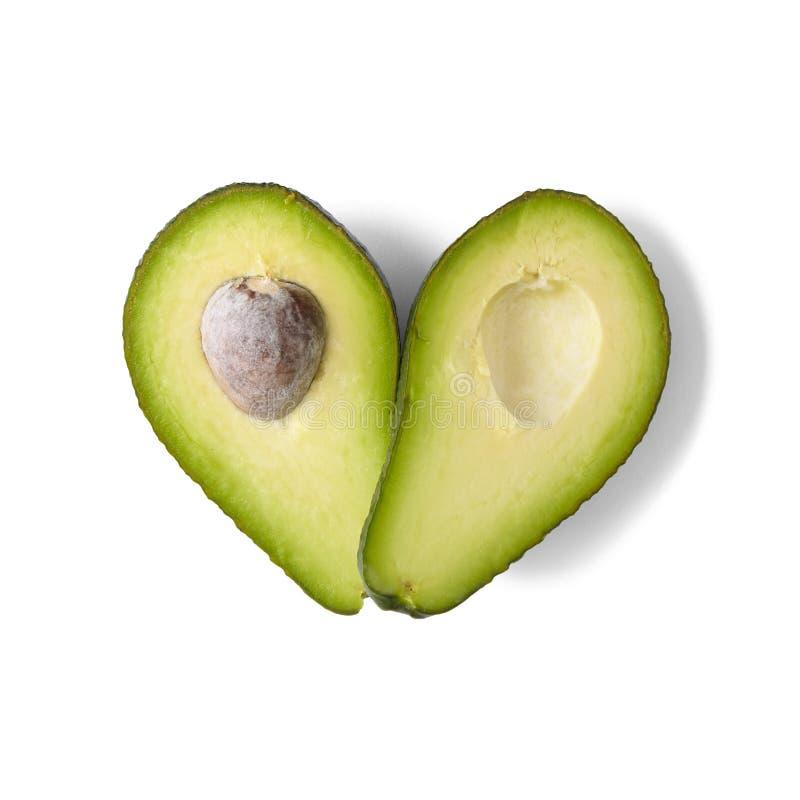 Καρδιά αβοκάντο στοκ εικόνα
