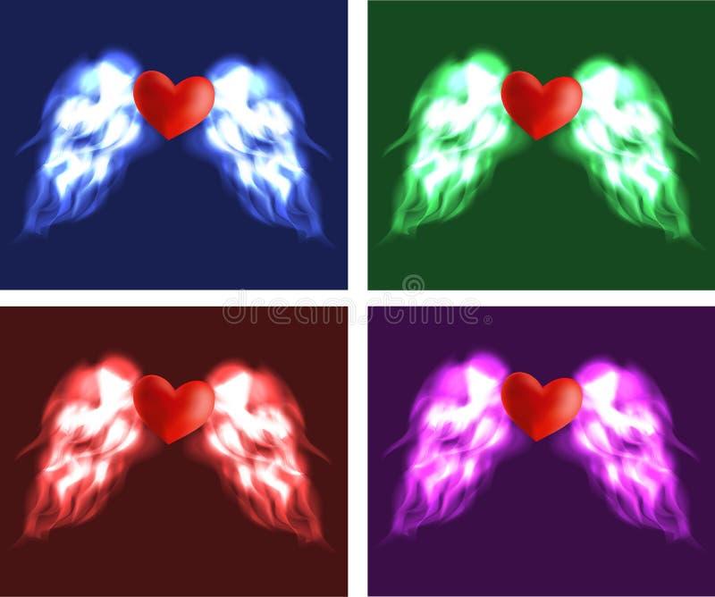 Καρδιά αγγέλου στοκ φωτογραφίες