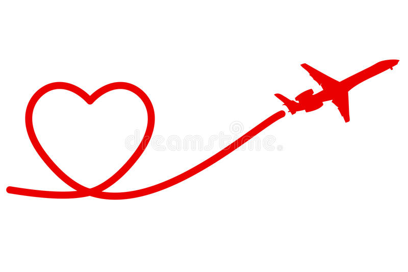 Καρδιά αεροπλάνων ελεύθερη απεικόνιση δικαιώματος