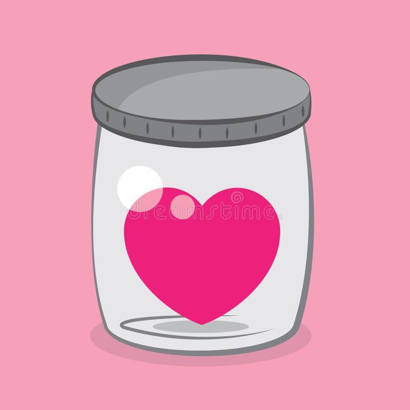 Καρδιά βάζων διανυσματική απεικόνιση