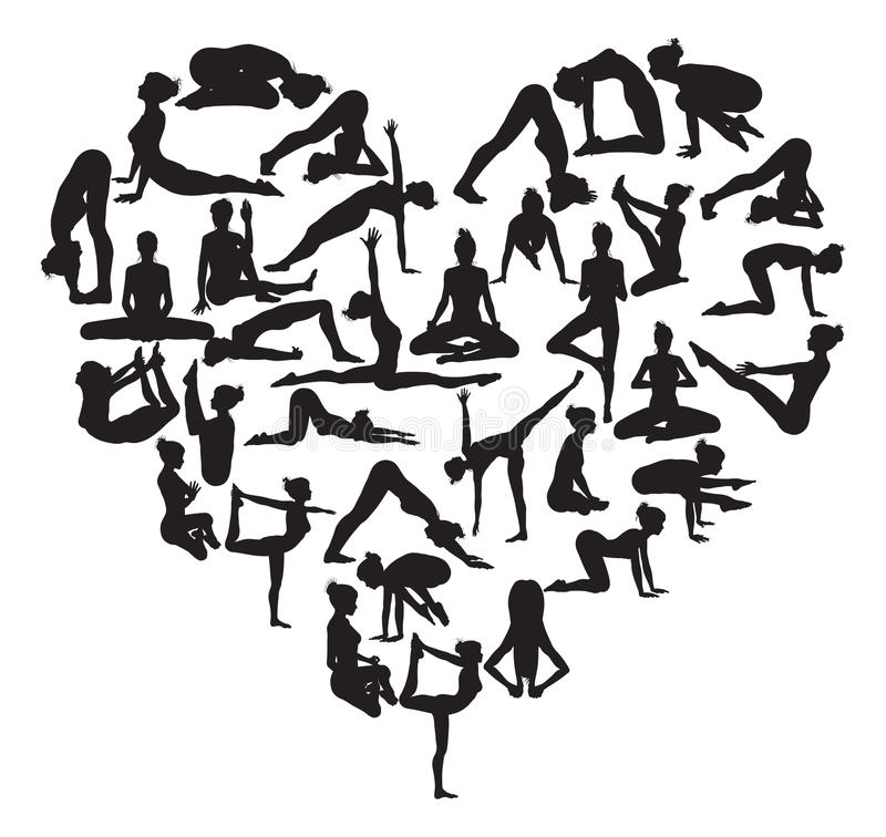 Καρδιά γιόγκας διανυσματική απεικόνιση