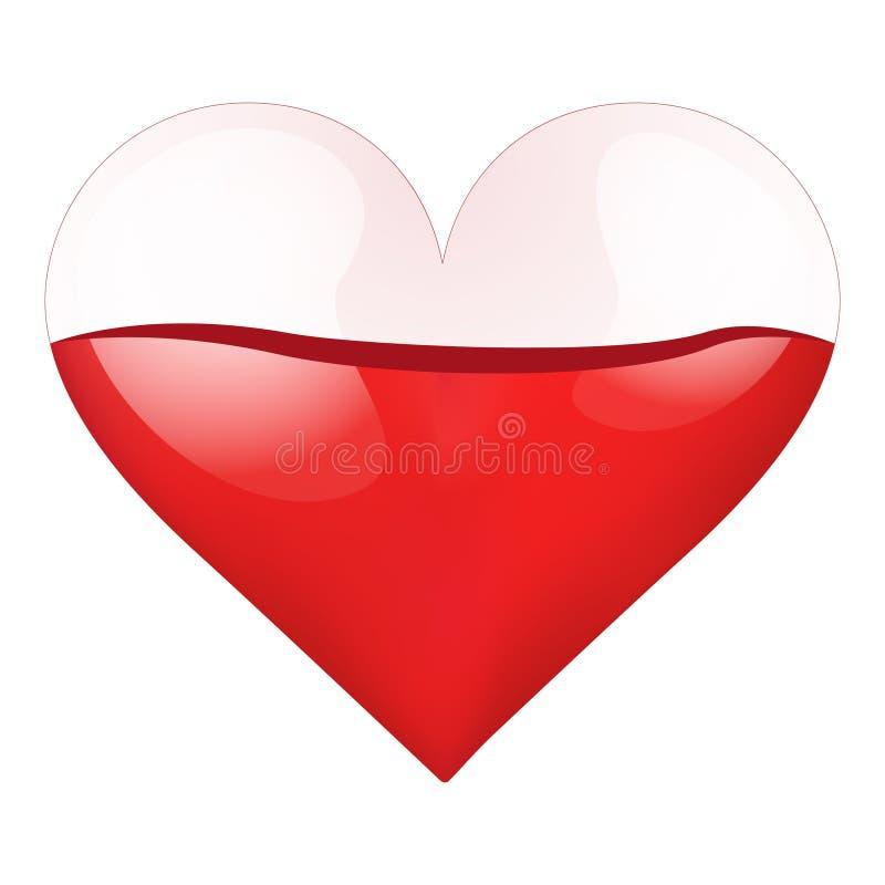 Καρδιά εμπορευματοκιβωτίων με αίμα-γεμισμένος διανυσματική απεικόνιση