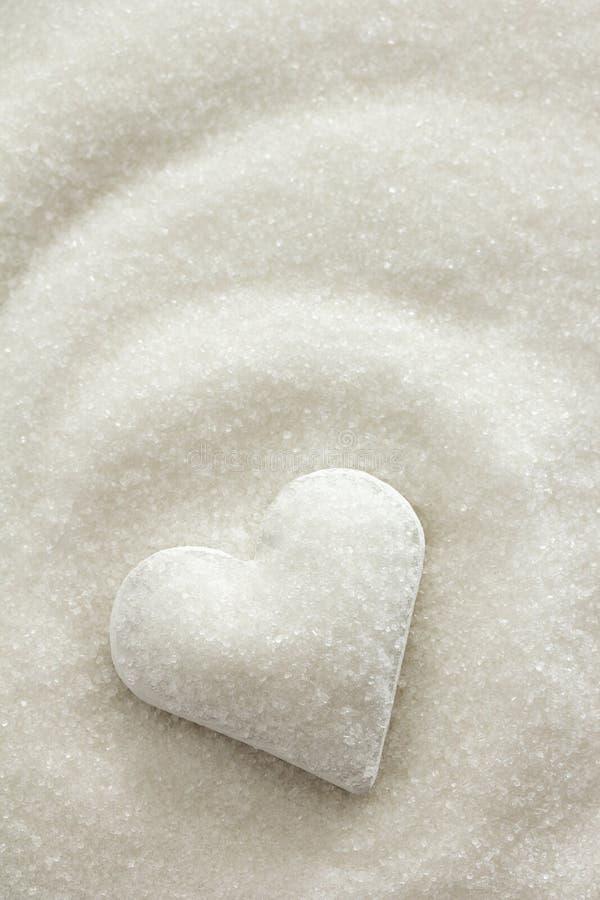 Καρδιά ζάχαρης στοκ εικόνες