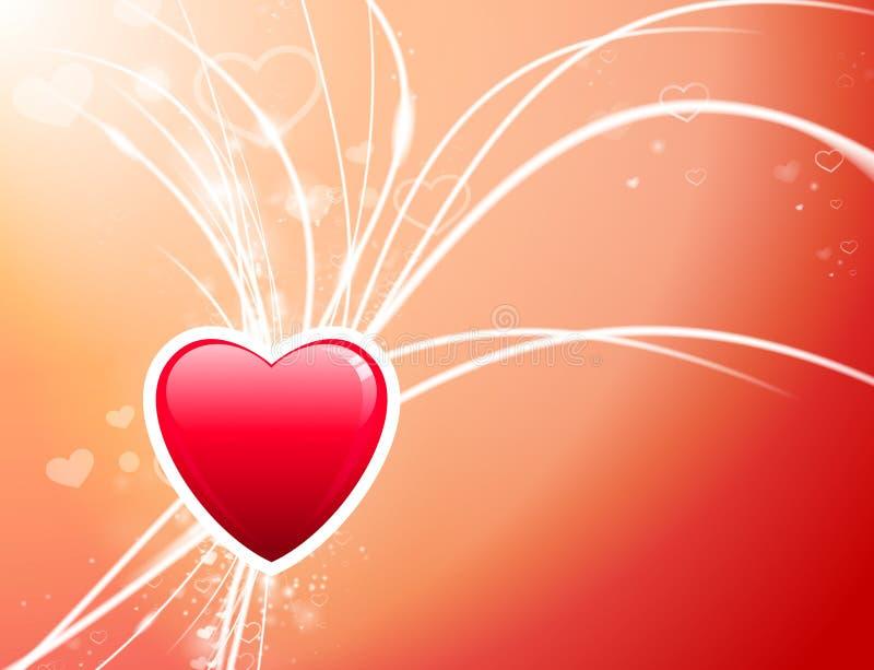Καρδιά ημέρας βαλεντίνου στο αφηρημένο ελαφρύ υπόβαθρο διανυσματική απεικόνιση