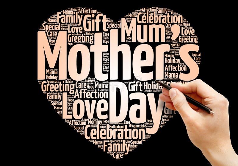 Καρδιά ημέρας μητέρων ` s στοκ φωτογραφία με δικαίωμα ελεύθερης χρήσης