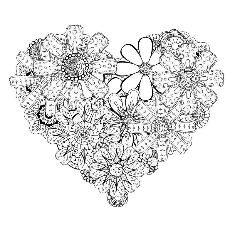 Καρδιά-διαμορφωμένο σχέδιο διανυσματική απεικόνιση