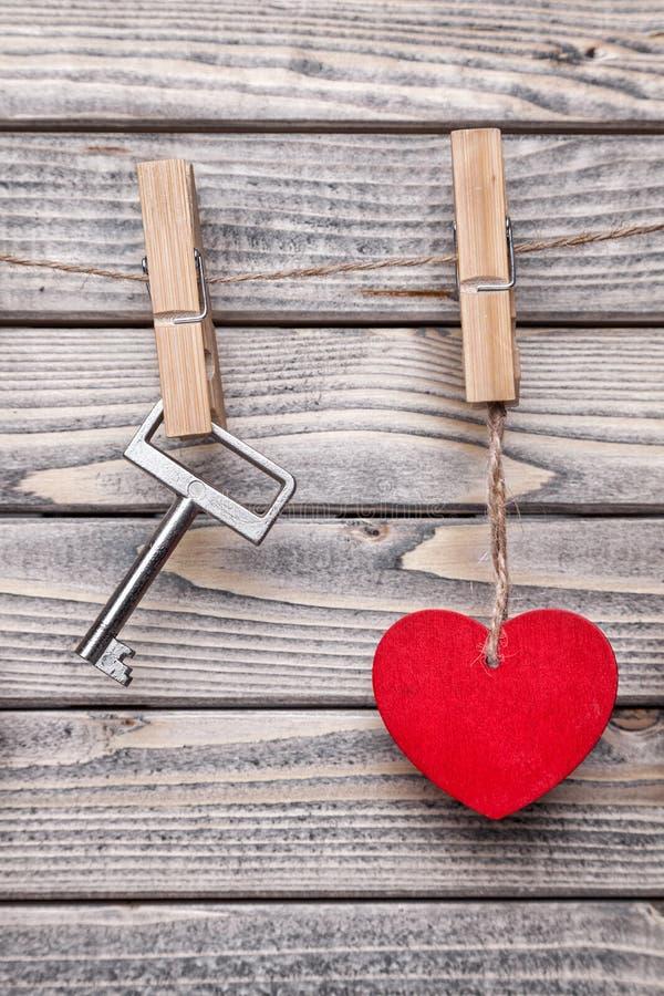 Καρδιά και βασική ένωση σε μια σειρά στοκ εικόνες