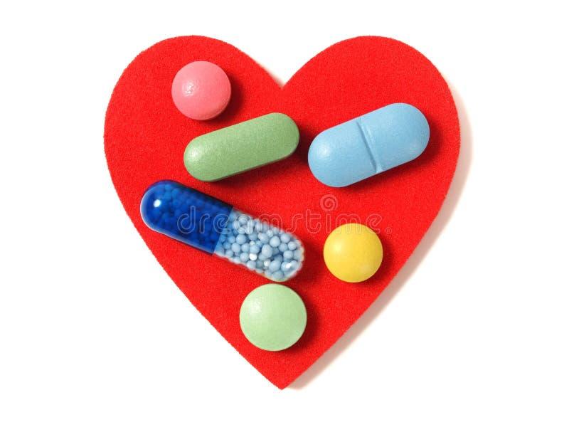 Καρδιά και ιατρική στοκ φωτογραφία