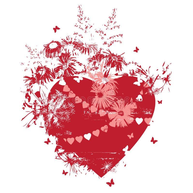 Καρδιά και λουλούδια απεικόνιση αποθεμάτων