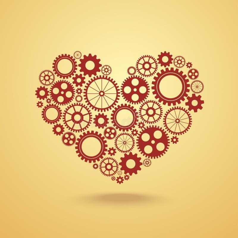 Καρδιά με τα εργαλεία ελεύθερη απεικόνιση δικαιώματος