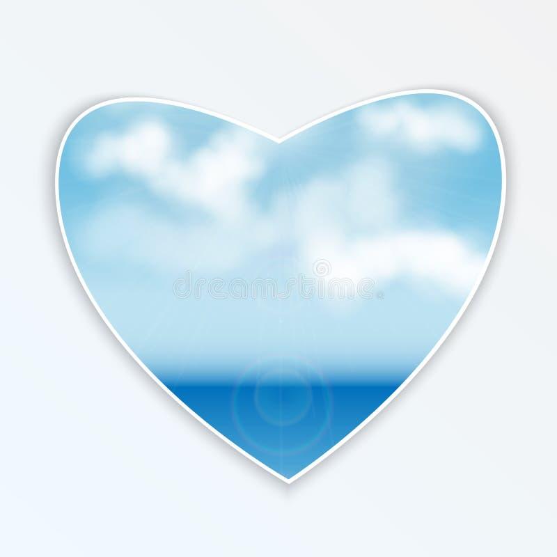 Καρδιά με το φυσικό σχέδιο απεικόνιση αποθεμάτων