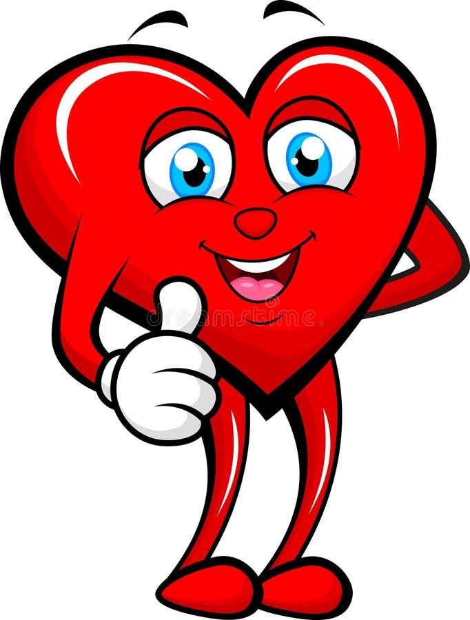 Καρδιά που δίνει τον αντίχειρα επάνω απεικόνιση αποθεμάτων