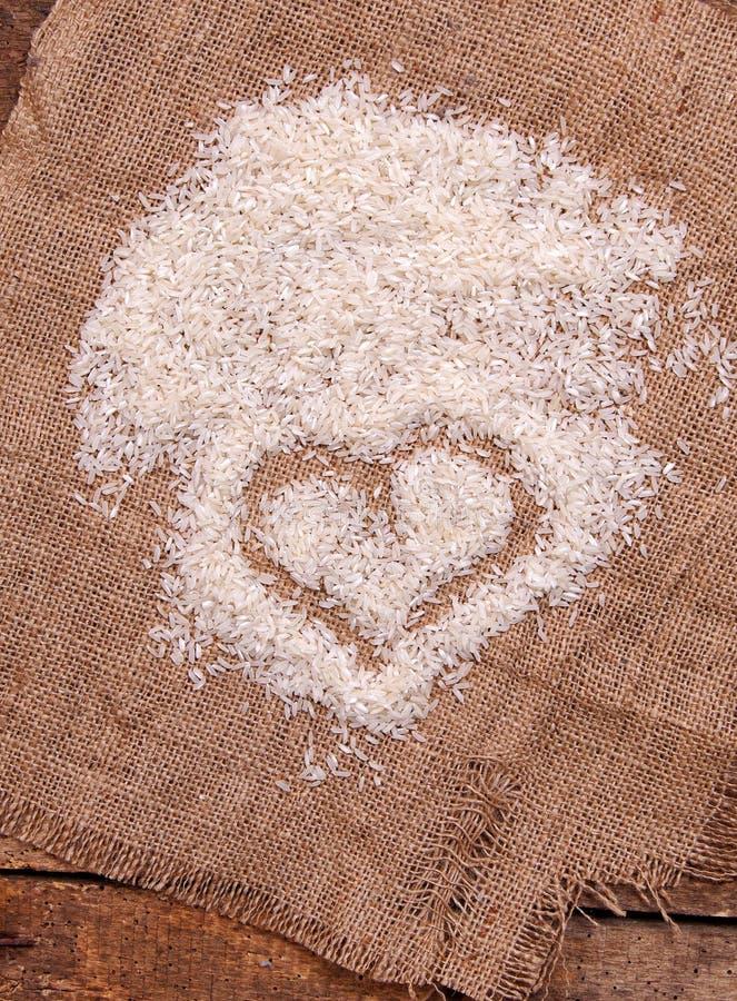 Καρδιά ρυζιού που διαμορφώνεται στοκ φωτογραφίες με δικαίωμα ελεύθερης χρήσης