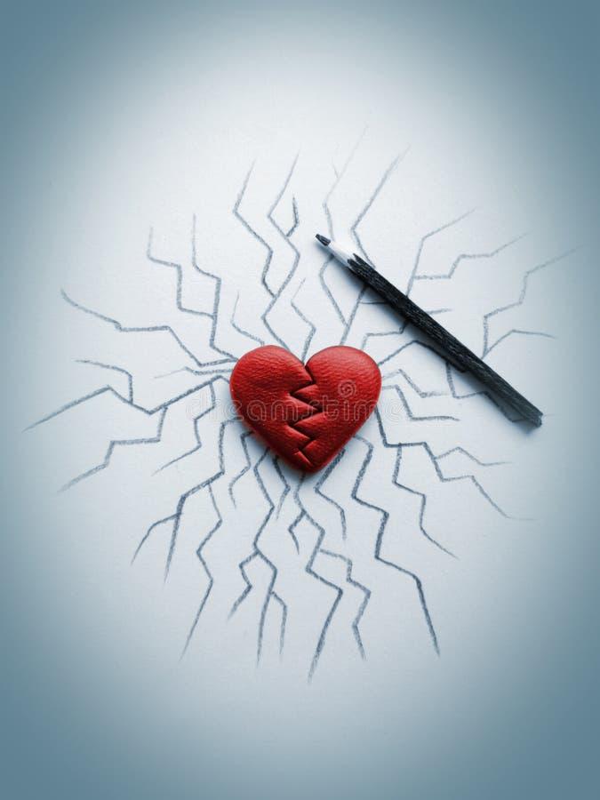 Καρδιά ρωγμών στοκ φωτογραφία με δικαίωμα ελεύθερης χρήσης