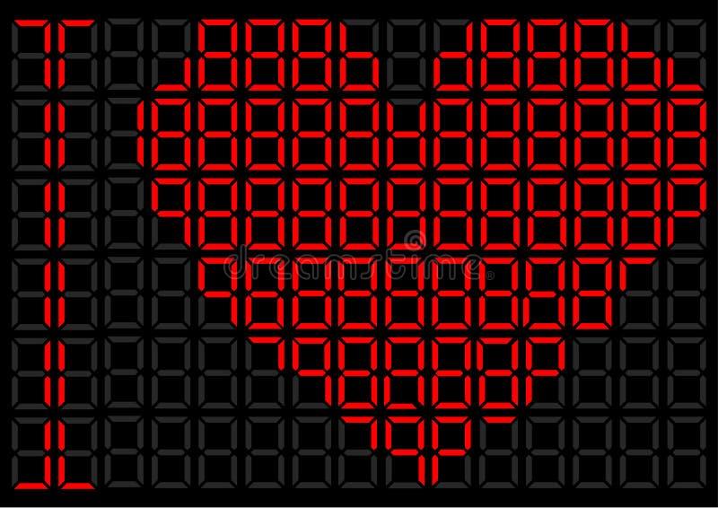 Καρδιά σε μια ψηφιακή επίδειξη στοκ φωτογραφία με δικαίωμα ελεύθερης χρήσης