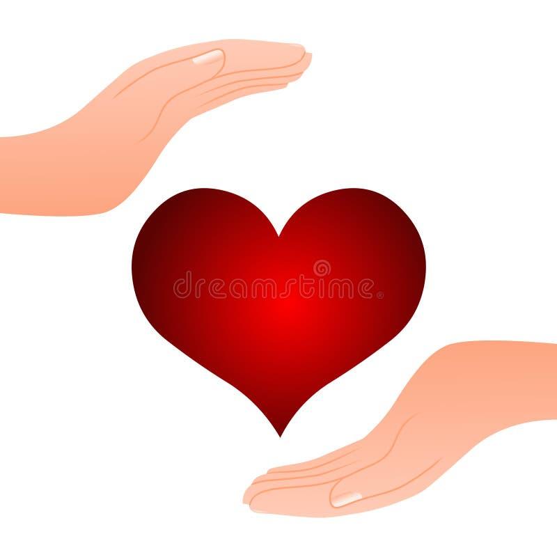 Καρδιά στη διάθεση διανυσματική απεικόνιση