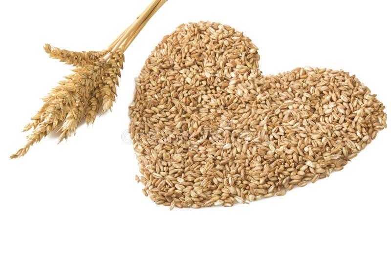 Καρδιά του συλλαβισμένου σιταριού στοκ εικόνες
