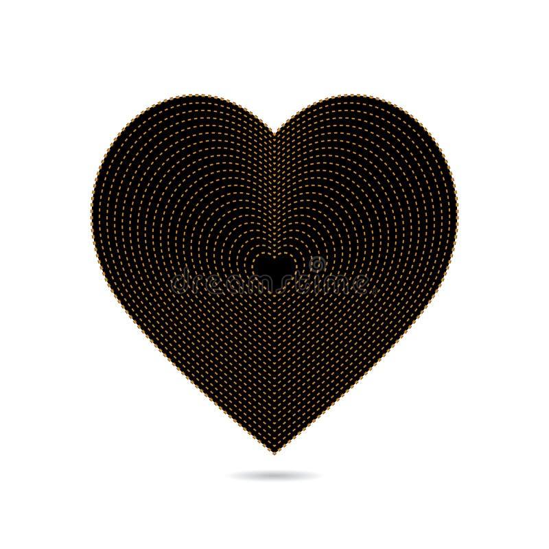 Καρδιά του χρυσού και του Μαύρου στοκ φωτογραφία με δικαίωμα ελεύθερης χρήσης