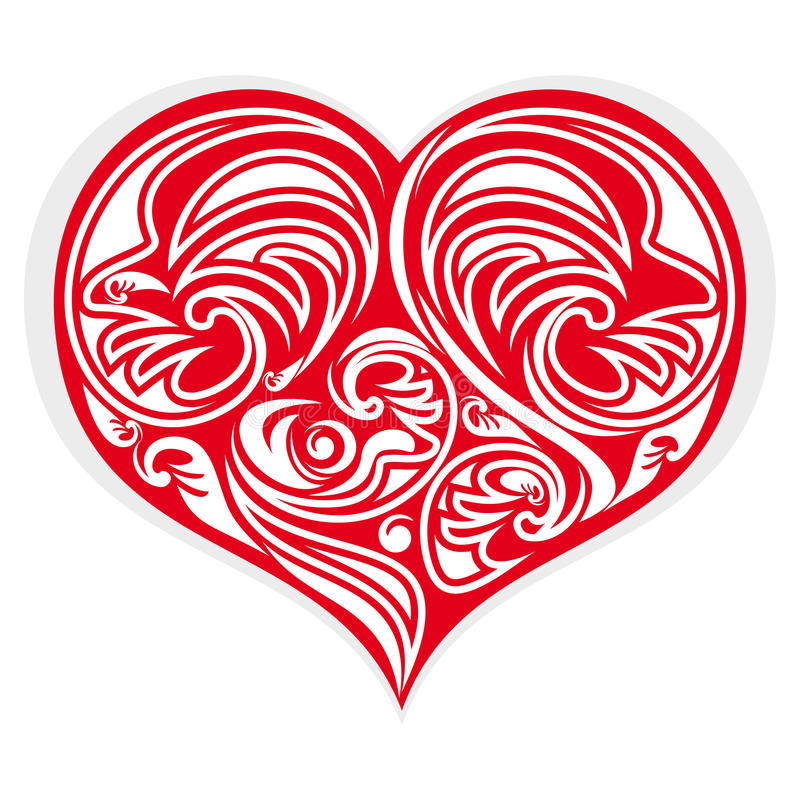 Καρδιά τυποποιημένη διανυσματική απεικόνιση