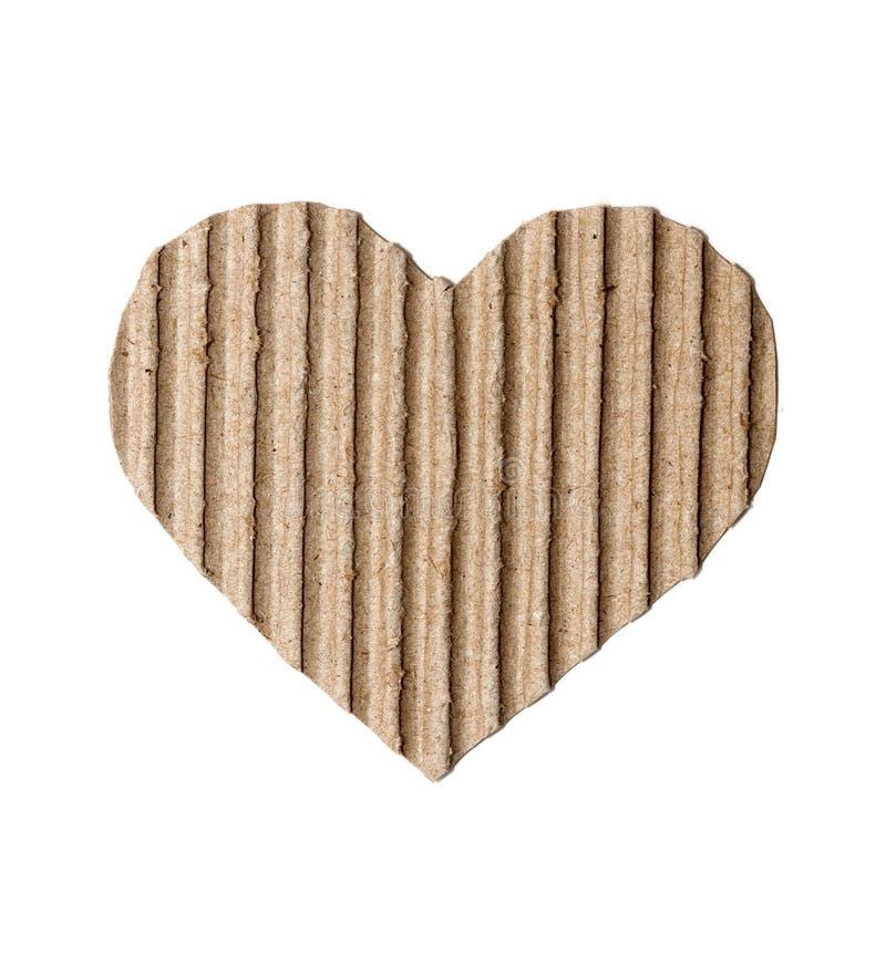 Καρδιά φιαγμένη από χαρτόνι στοκ φωτογραφίες με δικαίωμα ελεύθερης χρήσης