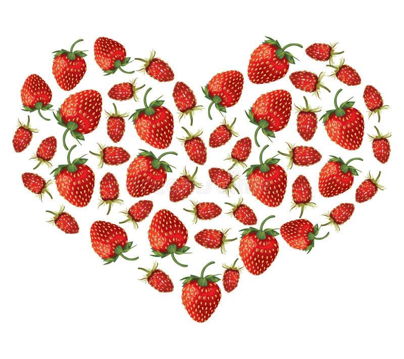 Καρδιά φραουλών απεικόνιση αποθεμάτων